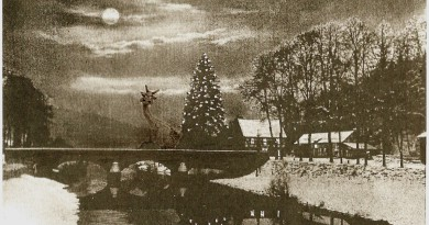 Alte Postkarte von Loope mit Aggerbrücke