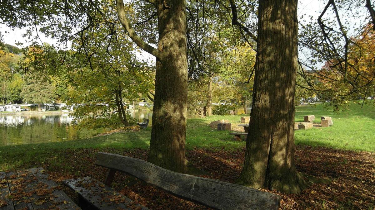 Unter den Looper Linden - Blick auf den Stausee Ehreshoven I