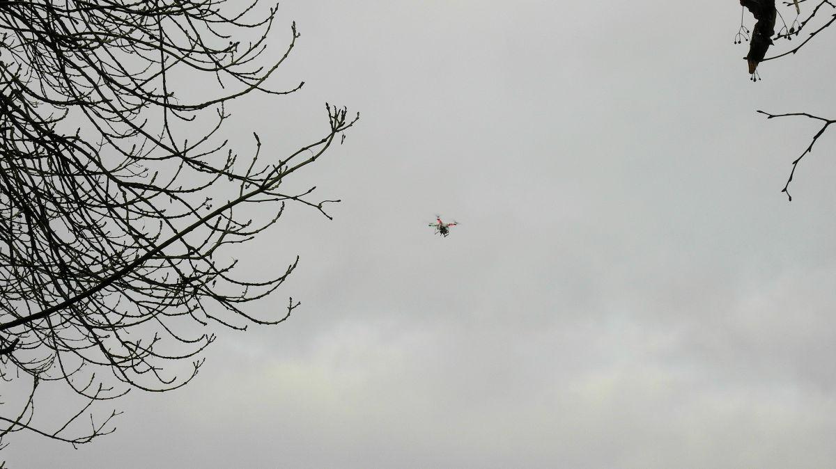 Drohne über der Agger