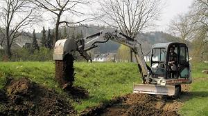 Bau des neuen Zugangwegs