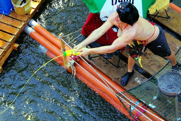 Seeschlacht auf der Agger - mit Senf