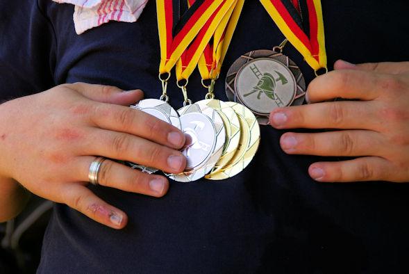 Medaillen für die Sieger
