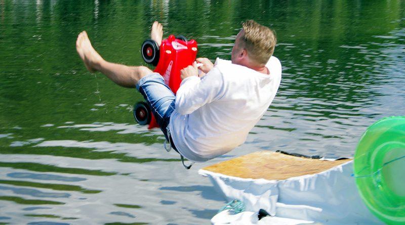 Auf dem Weg ins Wasser
