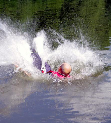 Dieter im Wasser